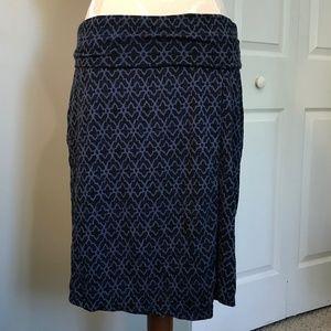 ATHLETA Side Slit Faux Wrap Stretch Skirt Medium